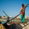 Junge am Fluss, St. Louis, Senegal  2010 © Werner Mansholt