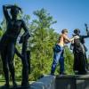 Photo 8:Bronzeskulpturen im Park des Katharinenpalastes in Puschkin bei St. Petersburg 2014 © Werner Mansholt
